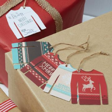 Christmas Jumper Gift Tags - pack of 12